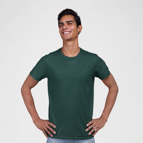 PNC garments round neck t-shirt green wholesale t-shirt suppliers in mumbai