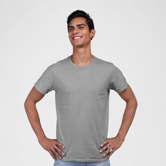 PNC garments round neck t-shirt grey wholesale t-shirt suppliers in mumbai