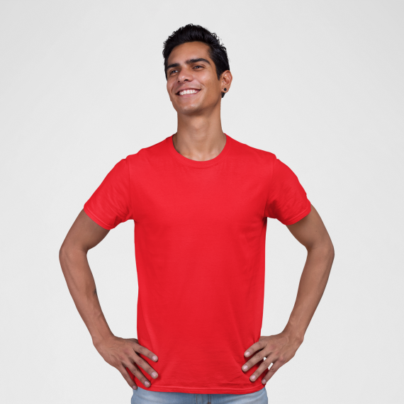 PNC garments round neck t-shirt red wholesale t-shirt suppliers in mumbai