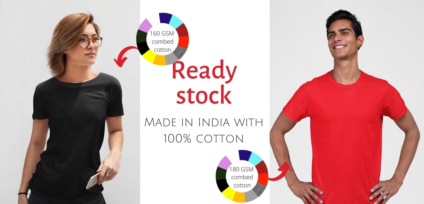 web banner for Ready stock t-shirt